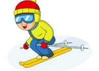downhill skier with goggles clipart